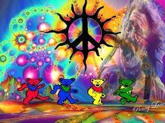 Grateful dead 3 by on Etsy Grateful Dead Tattoo, Grateful Dead Image, Grateful Dead Poster, Grateful Dead Bears, Hippie Peace, Hippie Love, Hippie Art, Hippie Chick, Hippie Style