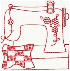 Image detail for -Machine Embroidery Designs - Redwork - esquema Sewing Machine Embroidery, Hand Embroidery Patterns, Applique Patterns, Vintage Embroidery, Embroidery Applique, Cross Stitch Embroidery, Motifs D'appliques, Quilting, Sewing Designs