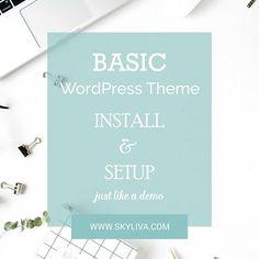 Basic WordPress Theme Installation  Add On to Premade Divi