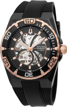 f43bad09f11 Montre Homme Bulova Marine Star Automatique Mécanique Hand-Wind 98A109