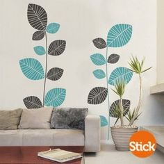 "CLICK Visit link for more info - Wall Decals: The Perfect ""Stick-on"" Design. Tree Design On Wall, Wall Art Designs, Wall Design, Diy Wall, Wall Decor, Mural Wall Art, Wall Paintings, Wall Drawing, Inspiration Wall"