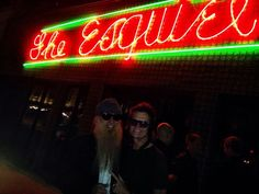 Me and my longtime friend, Billy Gibbons, on a late night prowl in San Antonio, TX...