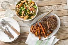 Sweet and Savory Sweet Potato Steak Fries Recipe - Relish Grilled Fish Recipes, Healthy Grilling Recipes, Grilled Beef, Vegetable Side Dishes, Vegetable Recipes, Grilled Sweet Potato Fries, Veggie Delight, Potato Sides, Fries Recipe