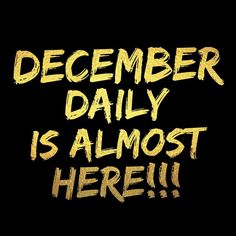 And I am SO EXCITED!!!! I'm going to be posting a new video everyday so you should be excited too!!! Check out my YouTube and make sure you hit subscribe so you don't miss anything. Link in the description. #decemberdaily #decemberdaily2016