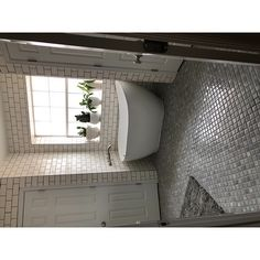 Shop SomerTile 12.375x12.5-inch Antaeus Grey Eye Porcelain Mosaic Floor and Wall Tile (10 tiles/10.7 sqft.) - Overstock - 9812411 L Shaped Kitchen Designs, Grey Tiles, Gray Eyes, Room Dimensions, Porcelain Tile, Wall Tiles, Home Improvement, Mosaic, Home And Garden