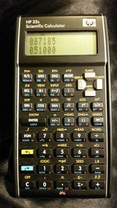 HP 35S RPN/algebraic scientific calculator