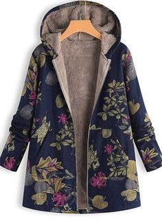 online shopping for hevare Winter Women Casual Long Sleeve Print Hooded Sweater Warm Plush Jacket Down from top store. See new offer for hevare Winter Women Casual Long Sleeve Print Hooded Sweater Warm Plush Jacket Down Oversized Mantel, Oversized Coat, Casual Sweaters, Winter Sweaters, Winter Jackets Women, Coats For Women, Mode Mantel, Plus Size Coats, Parka Coat