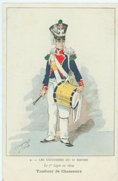 French; 7th Light Infantry, Chasseur Drummer, 1809