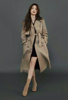Korean Actresses, Korean Actors, Trench Coat Style, Song Hye Kyo, Descendants, Classy Outfits, Dramas, Ulzzang, Korean Fashion