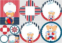 sailor-bear-party-free-printable-mini-kit.jpg (820×580)