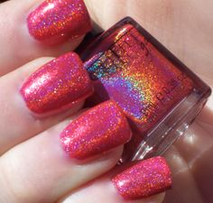 """""""Not Another Red"""" 3D glitter polish. This color is amazing!"""