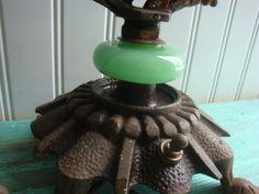 Vintage Jadite 2 light lamp