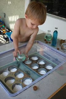 Pre-school baking soda/vinegar experiment