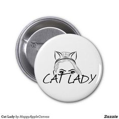 Cat Lady 2 Inch Round Button