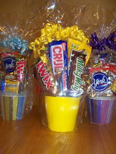 Candy Bouquet made from finds at Dollar Tree.