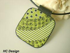 Ceramic Jewelry, Enamel Jewelry, Clay Jewelry, Jewelry Crafts, Jewellery, Green Pallete, Clay Texture, Polymer Clay Pendant, Clay Tutorials