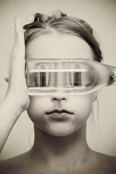 Brittany DeJesus - LOAF, fishbowl, self portrait, modern portrait photography Distortion Photography, Conceptual Photography, Creative Photography, Surrealism Photography, Artistic Photography, Photography Projects, Photography Tips, Portrait Photography, Mixed Media Photography