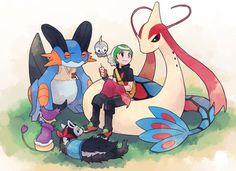 Ruby and his team! Pokemon Adventures Manga, Powerful Pokemon, Satoshi Tajiri, Pokemon Emerald, Pokemon Collection, Pokemon Special, Cool Pokemon, Pokemon Pictures, Doujinshi