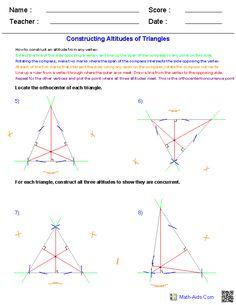 Perpendicular Bisector Constructions Worksheets | Math Worksheets ...