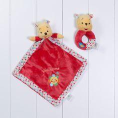 Naninha cheirinho soninho e chocalho Pooh Disney personalizada menina menino bebe comprar