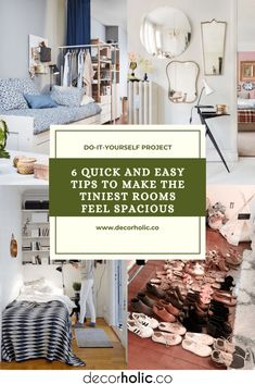 The good news is that the key to successful tiniest-living is easier than you think. It all boils down to tricking the eye into perceiving more space by employing three simple concepts: scale, light, and movement. #decorholic #tips #tiniestroom #spaciousroom #homedecor #designideas