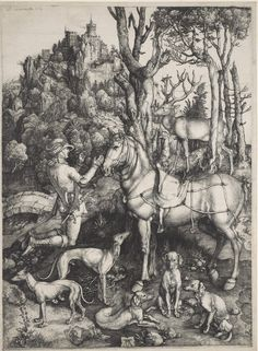 Albrecht Durer. The Vision of St Eustace