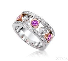 Unique Ring with Pink Sapphire