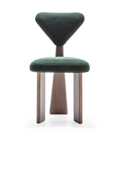 Contemporary Dining Chair in Solid Brazilian Walnut Wood by Juliana Vasconcellos For Sale at Quality Furniture, Furniture Styles, Cheap Furniture, Vintage Furniture, Furniture Shopping, Steel Furniture, Furniture Movers, Furniture Logo, Furniture Online