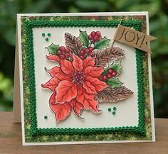 From the Paper Landscaper:  Beautiful poinsettia card!