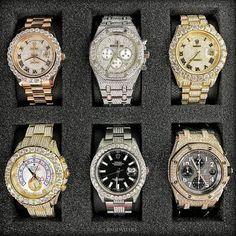 Bling Bling Bling! Your favorite bust down piece? Tag a friend who would love this! Call or Email us for your next watch!""