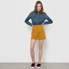 Chemise denim LEVI'S Blouse, Jeans, Style, Fashion, Dungarees, Cotton, Outfit, Dress, Human Height
