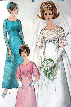 Simplicity 6825 Pattern, 1960 Wedding dress pattern, Vintage Fashion.. $3.00, via Etsy.