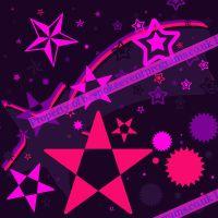 """Pretty Purplinkity Stars"" Designed By R Harding"