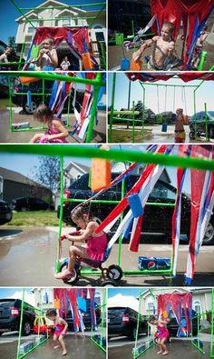 bike car wash - via: the happy family movement