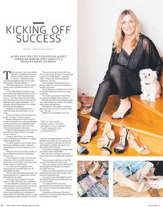 Article on Michelle Noordink, CEO & Founder of Conf3ss Shoes. Gold Coast Bulletin