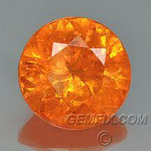 large round orange mandarine spessartite