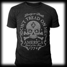 Rogue American Apparel Liberty or Death [T-LIBORDEATH-BLA] - $32.00