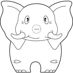 Make your world more colorful with printable coloring pages from Crayola. Our free coloring pages for adults and kids, range from Star Wars to Mickey Mouse Elephant Coloring Page, Animal Coloring Pages, Free Coloring Pages, Jungle Crafts, Art For Kids, Crafts For Kids, Elephant Crafts, Elephant Pictures, Puppet Patterns