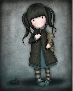 Girl&Teddy bear1- Ilus. Gorjuss