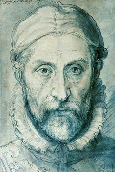Art - Self Portraits Drawing - Giuseppe Arcimboldo - Self portrait