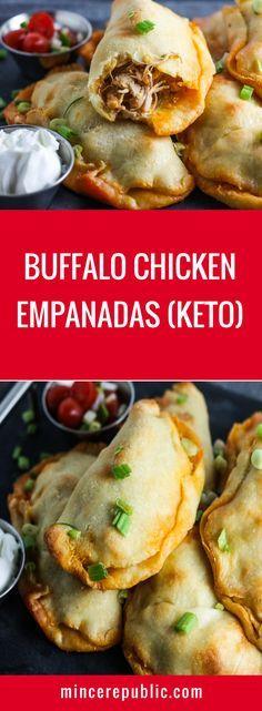 Buffalo Chicken Empandas Recipe (Keto) | #keto #lowcarb #gameday | mincerepublic.com