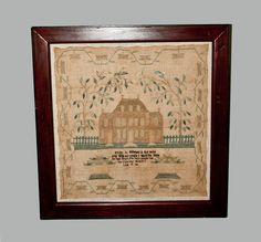 Rare 1814 Baltimore Architectural Needlework Sampler  09/15/2012