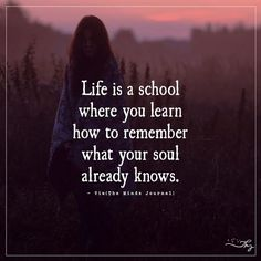 Life is a school - http://themindsjournal.com/life-is-a-school/
