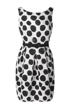 Polka dot sheath dress