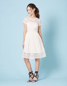 Boden Oxford Lace Dress Ivory Women Boden, Ivory The modern way to do occasionwear. Partially lined to show a hint of skin, this beautiful broderie lace dress has beautiful scalloped edging, while flattering pleats at the waist give the skirt an ele http://www.MightGet.com/january-2017-13/boden-oxford-lace-dress-ivory-women-boden-ivory.asp