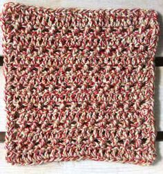 #76 Easy Crossover Crochet Dishcloth