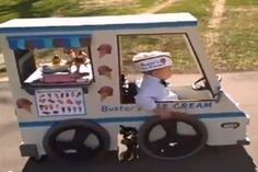 Ice Cream Truck Costume - made by his Dad for a child in a wheel chair.
