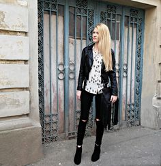 Black&white outfit White Outfits, Style Ideas, Punk, Street Style, Black And White, Fashion, White Stuff Clothing, Black White, Moda