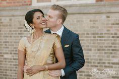 Beautiful moment between bride and groom. Interfaith wedding. Enoch Turner Schoolhouse. Toronto.