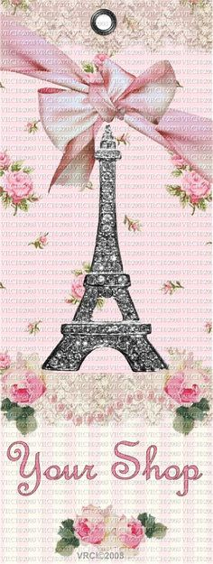 Paris Chic Pink Shabby Bookmarks Pink Rosebuds